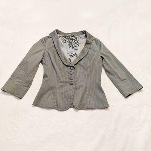 Sisley Grey Pin Stripe Women's Button Up Blazer 42